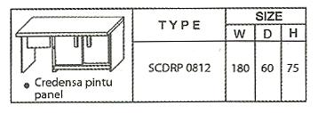 Brilliant Meja 1 Biro SCDRP 0812